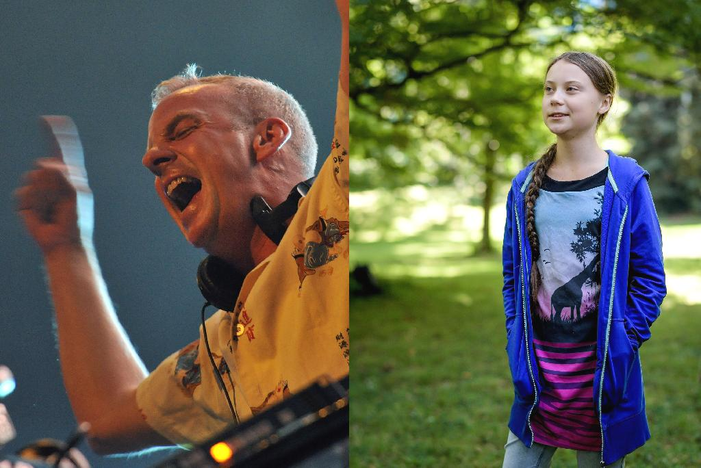 British superstar DJ Fatboy Slim paid tribute to teenage climate activist Greta Thunberg by performing a remix of his hit song 'Right Here, Right Now', using samples from her dramatic UN speech.  The 56-year-old artist played the mash-up, made by South African electronic artist David Scott, at a show in Gateshead, northeast England, last Friday, with a video clip of the performance recently going viral on social media.  The remix samples Thunberg's demands for action against climate change in her fiery speech at the United Nations last month to be taken 'right here, right now', using it during each refrain of the song's title.