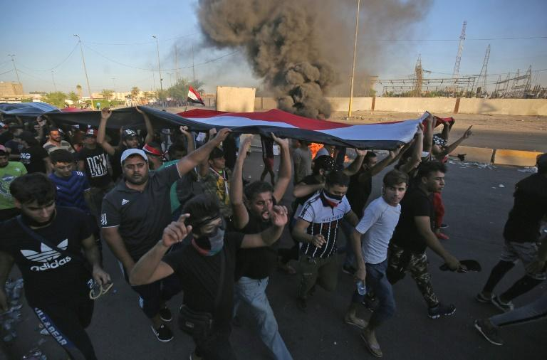 Iraq's deadliest wave of protests since the 2003 ouster of dictator Saddam Hussein has made the country vulnerable to a battle for influence between its two main competing allies, the United States and Iran, analysts say.  The anti-government protests that erupted on October 1 echoed the demands that young Iraqis have made over recent years.  'Without this context, Iran would not have intervened,' Iraqi political analyst Munqith Dagher said.