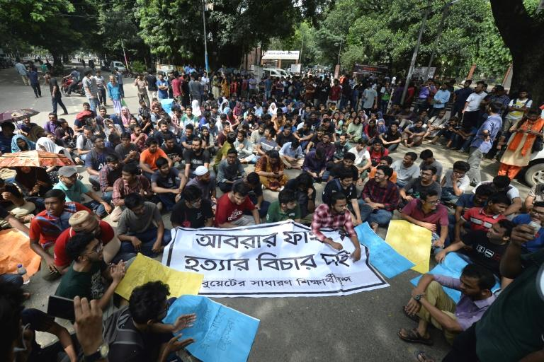 Bangladesh's prime minister on Wednesday vowed to mete out the 'highest punishment to the killers' of a university student who died after he criticised a deal the leader made with India.  The killing of 21-year-old Abrar Fahad on Monday, allegedly by members of a student branch of the country's ruling Awami League party, has sparked two days of protests in Dhaka and other cities.  Some 13 students, including 10 from the Awami League branch, have been detained by police over his death.