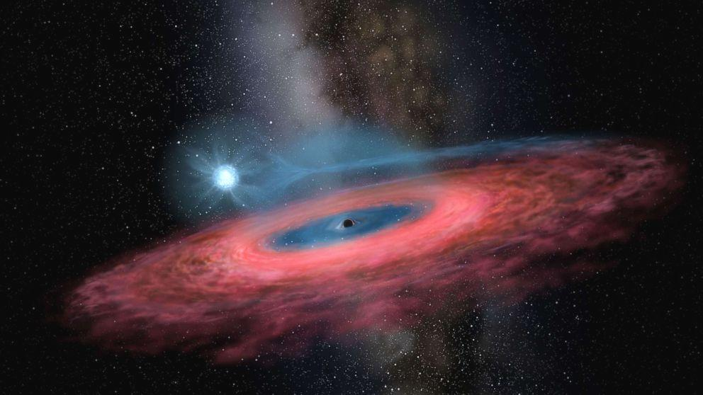 "A black hole with a mass 70 times greater than the Sun was discovered, leaving scientists stunned. ""Black holes of such mass should not even exist in our Galaxy, according to most of the current models of stellar evolution,"" Professor Jifeng Liu, who led the team at the Chinese Academy of Sciences that made the discovery, said in a statement. Scientists previously believed that the mass of an individual stellar black hole could not be more than 20 times that of the Sun. These stellar black holes are different than so-called supermassive black holes, which are found at the center of galaxies and can be billions of times the mass of our Sun."