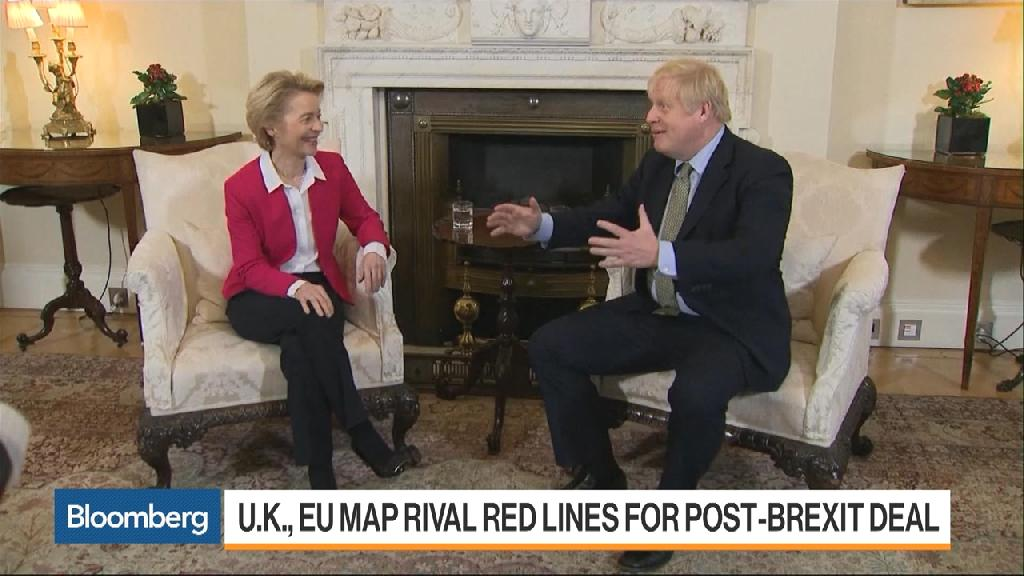 """(Bloomberg) -- British Prime Minister Boris Johnson faces his first battle of the next stage of Brexit, after the European Commission warned that a trade deal this year must include a fisheries accord.""""Existing reciprocal access to fishing waters and resources should be maintained,"""" the EU's executive arm said in a presentation to the bloc's remaining governments. Any trade deal must be """"underpinned by level playing field and with a fisheries agreement,"""" the Commission said in the document, which was discussed among EU diplomats preparing for the post-Brexit negotiations and published on Monday.One EU diplomat said this is the first time Brussels has made a fishing accord a pre-condition for a trade agreement. The demand risks triggering a backlash in London: Johnson told the commission's chief last week that Britain plans to reassert control over its fishing waters after Brexit.The prime minister's office was quick to fire back Monday night, issuing a blunt statement: """"We have been clear that once we leave the EU, we will be taking back control of our fishing waters.""""EU governments are expected to give the commission a mandate to negotiate the bloc's future partnership with the U.K. as soon as next month. Countries including France, which would need to approve any potential deal, will likely back the demand for a fisheries accord, as European fishermen get 50% to 60% of their catch from British waters.When they struck a deal on the terms of their separation, both sides agreed in to reach an agreement on fishing by the end of June this year, as the industry is a major concern for Ireland, the Netherlands, France and Spain.In its presentation, the Commission also reiterated that the U.K. """"will be treated like other third countries"""" when it comes to financial services, meaning that British banks will be granted limited ad hoc access to the bloc's market, only as long the EU deems U.K. rules to be equally thorough and strict as its own.\--With assistance from Ian Wisha"""
