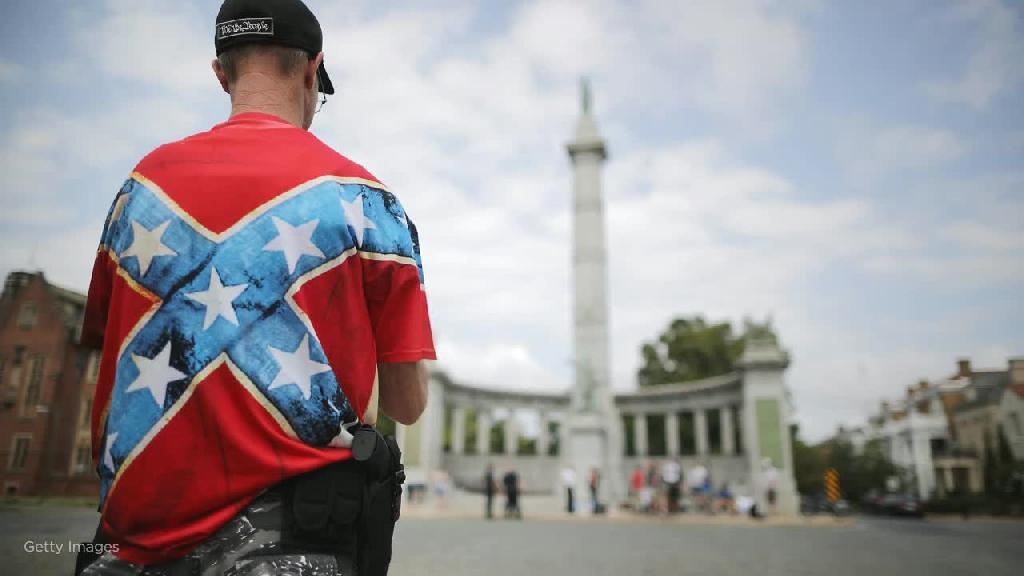 A hidden camera captured members of a white supremacist group expressing hope that violence at a gun rights rally in Virginia this week could start a civil war, federal prosecutors said in a court filing Tuesday.