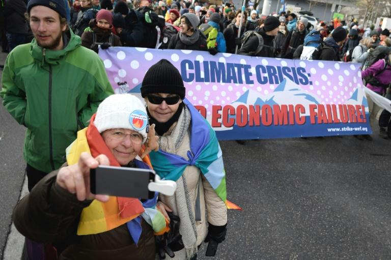 The group, brandishing banners warning 'Climate crisis: a world economic failure' and 'there is no Planet B,' urged political and business leaders to take responsibility for averting environmental catastrophe as they set off from the small town of Landquart some 50 kilometres (32 miles) from Davos.  'The climate question is the number one issue and it should simply be topic number one at Davos too and participants should recognise that; it is essential they go in this direction,' Katherine, a Zurich-based pensioner, told AFP.  Local authorities have only authorised the first two days of the activists' march as far as the swanky ski resort of Klosters but the group say they plan to follow narrow footpaths to make it as near the summit as possible.