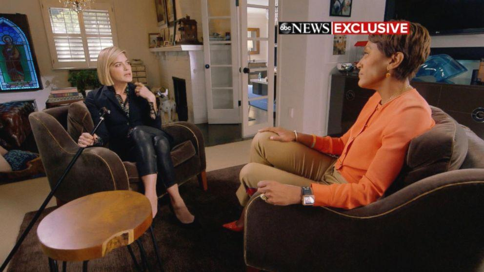 The 46-year-old actress is now revealing the agony she went through before receiving a diagnosis of multiple sclerosis (MS) last August.'Ever since my son was born, I was in an MS flare-up and didn't know, and I was giving it everything to seem normal,' Blair told Robin Roberts in an interview that aired Tuesday on 'Good Morning America.' 'And I was self-medicating when he wasn't with me.  Blair recalled that she would get so fatigued prior to her diagnosis that she would need to pull over to take a nap after dropping her son, now 7, off at his school one mile away from their home.  During her interview with 'GMA' at her Los Angeles home, Blair was in an 'exacerbation' of MS, or an attack that causes new symptoms or the worsening of existing symptoms.